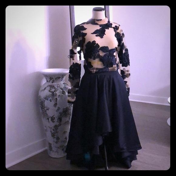 532dac09a2a237 AKIRA Dresses | Beautiful Navy High Low Skirt | Poshmark